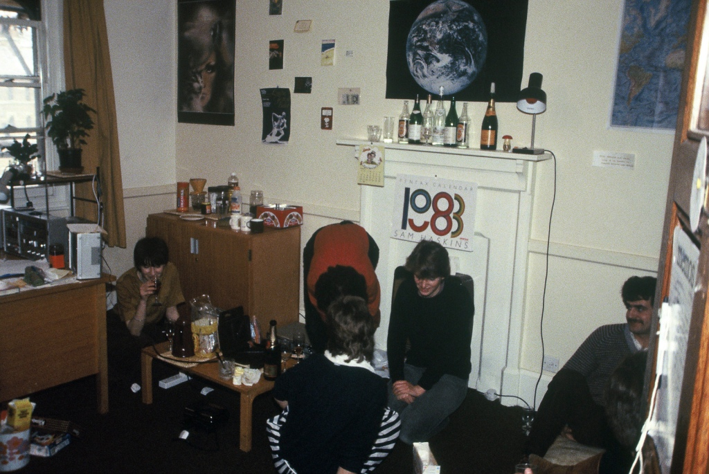 My room in Keble, early 1980s