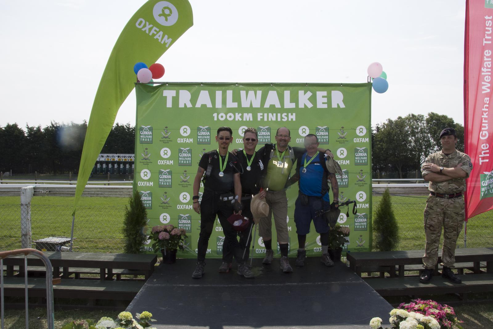 finish line image #trailwalker 2014